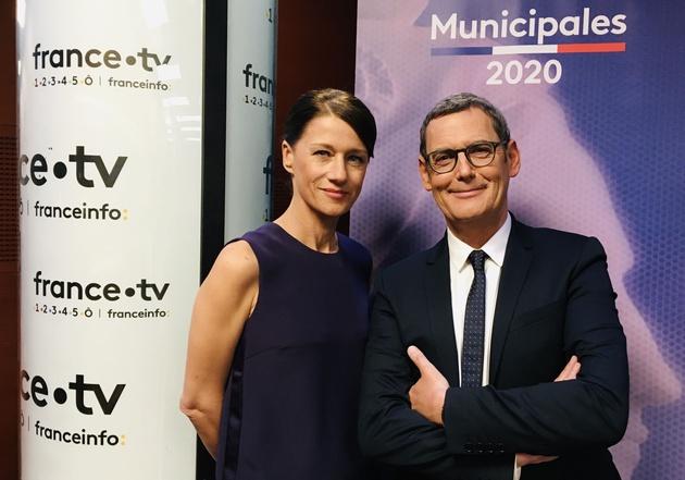 Carole Gaessler et Francis Letellier (c) Ftv