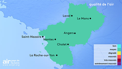 Carte Qualité de l'air PDL